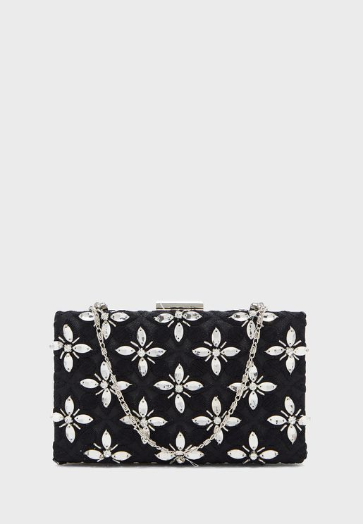 Chain Detail Embellished Crossbody