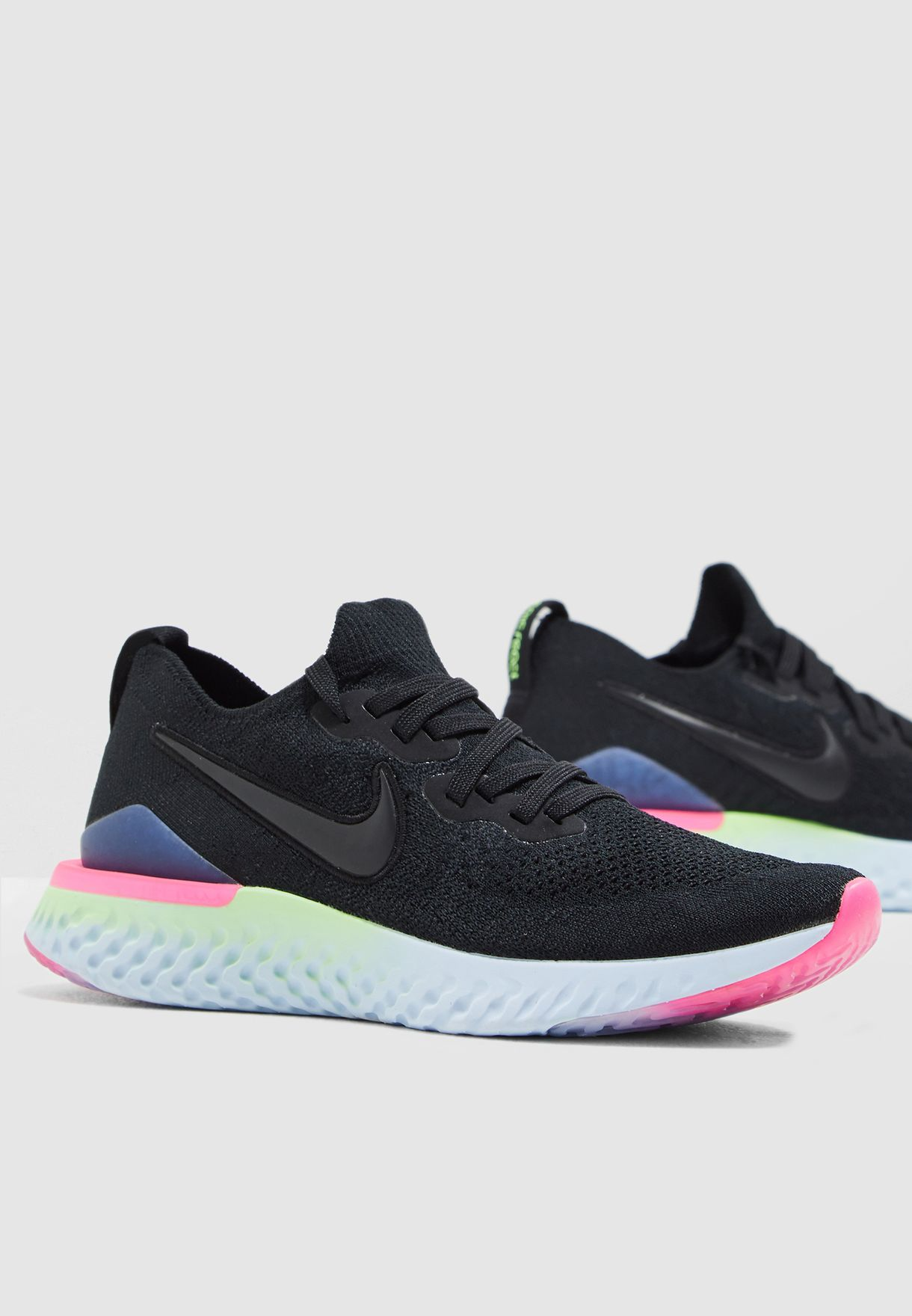 75b36fa726623 Shop Nike black Epic React Flyknit 2 BQ8927-003 for Women in UAE ...