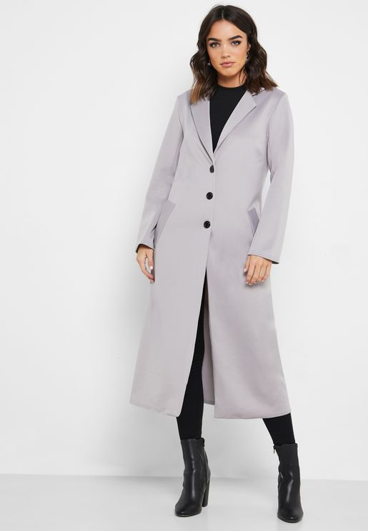 Longline Button Front Duster Jacket