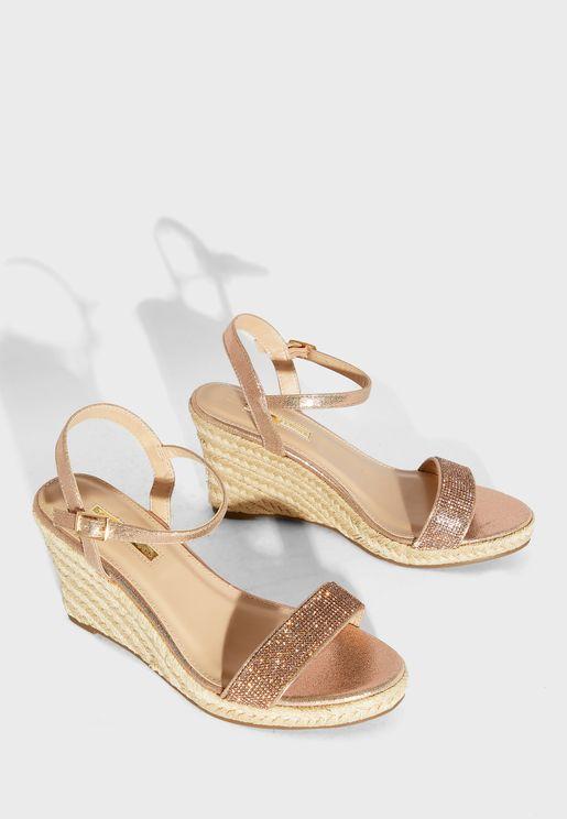 Raa Embellished Wedge Sandal