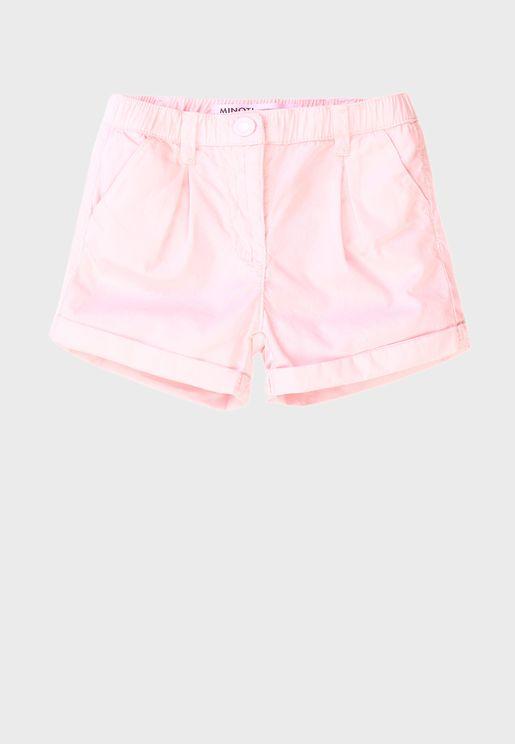 Infant Basic Poplin Shorts
