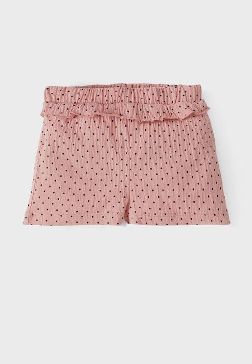 Infant Dot Print Shorts