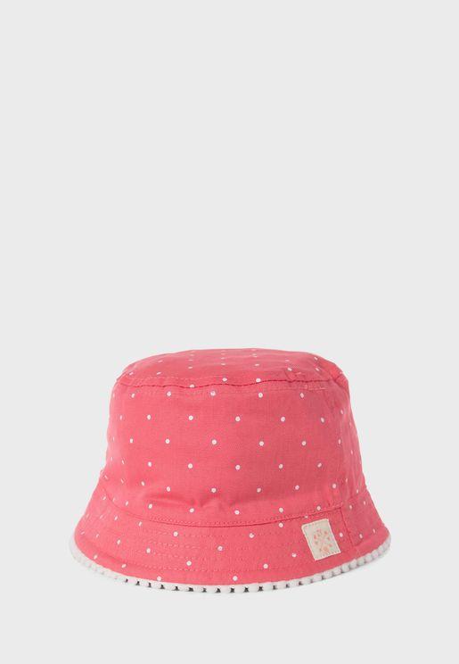 Kids Dot Print Bucket Hat