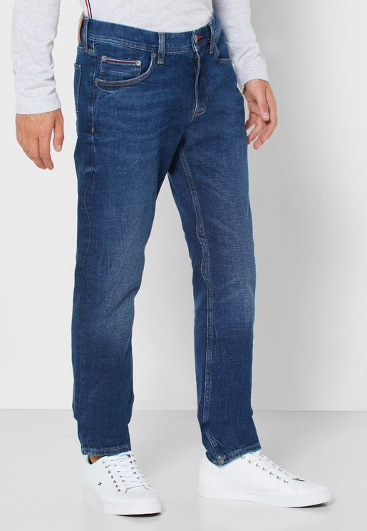 Mid Wash Slim Fit Jeans