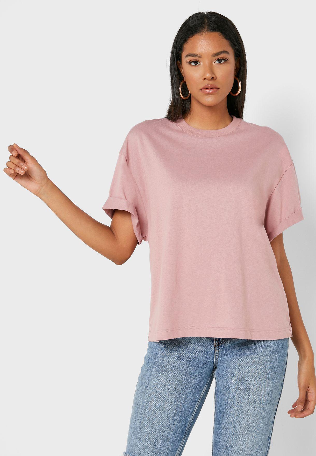 Boxy Roll Sleeve T-Shirt