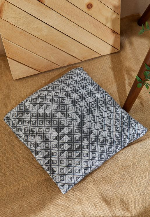 Grey Aztec Print Cushions With Inset 45*45