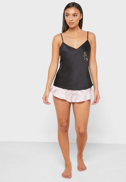 Graphic Cami Top & Shorts Set
