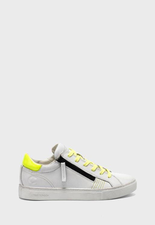 Double Zip Low Top Sneaker