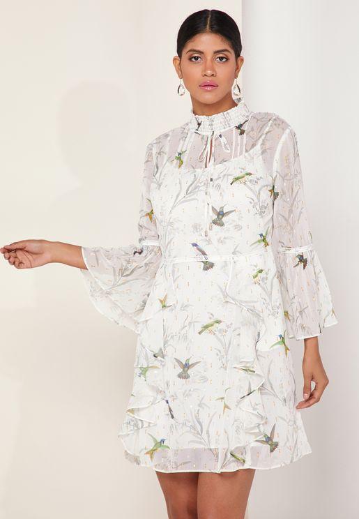 Fortune Layered Ruffle Dress