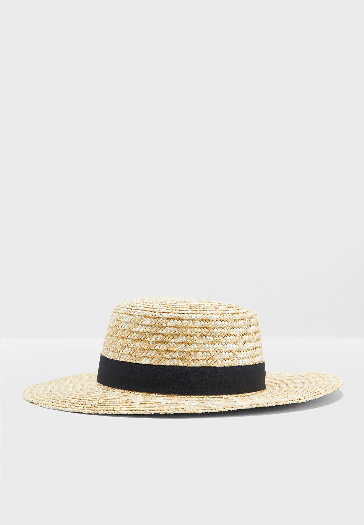 7bfaf17f97620 Shop Forever 21 beige Straw Hat 336886 for Women in Qatar - 20008AC08SSP