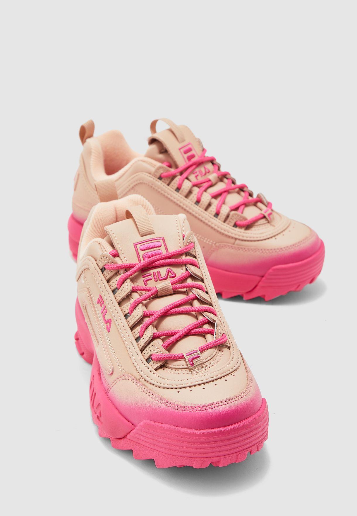 Buy Fila pink Disruptor II Brights Fade