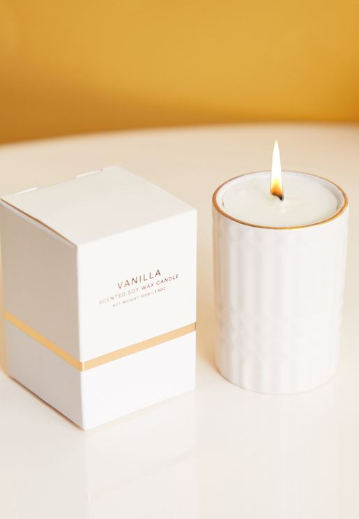 Vanilla Embossed Candle