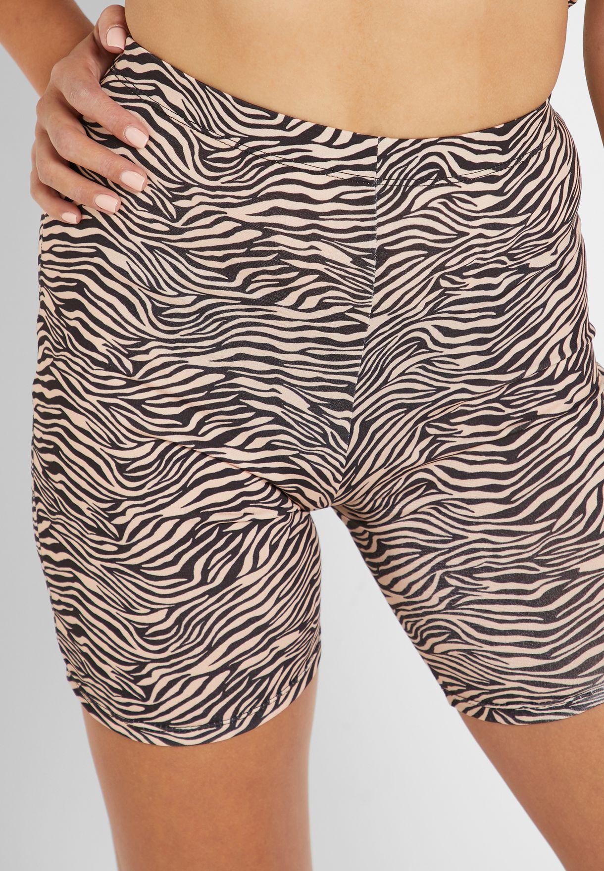 Zebra Print Cycling Shorts