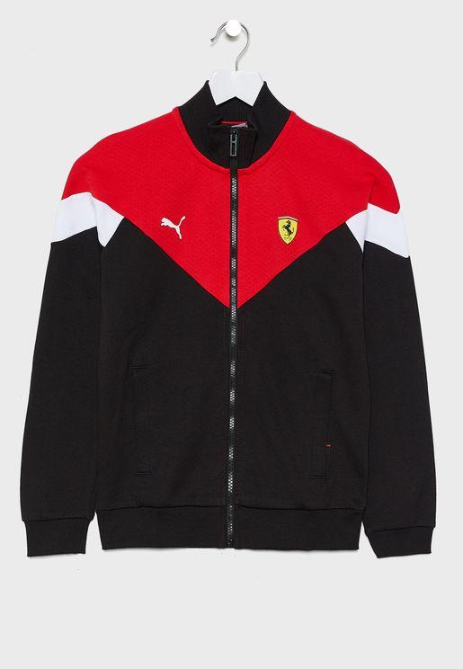 Kids Ferrari Race MCS Track Jacket
