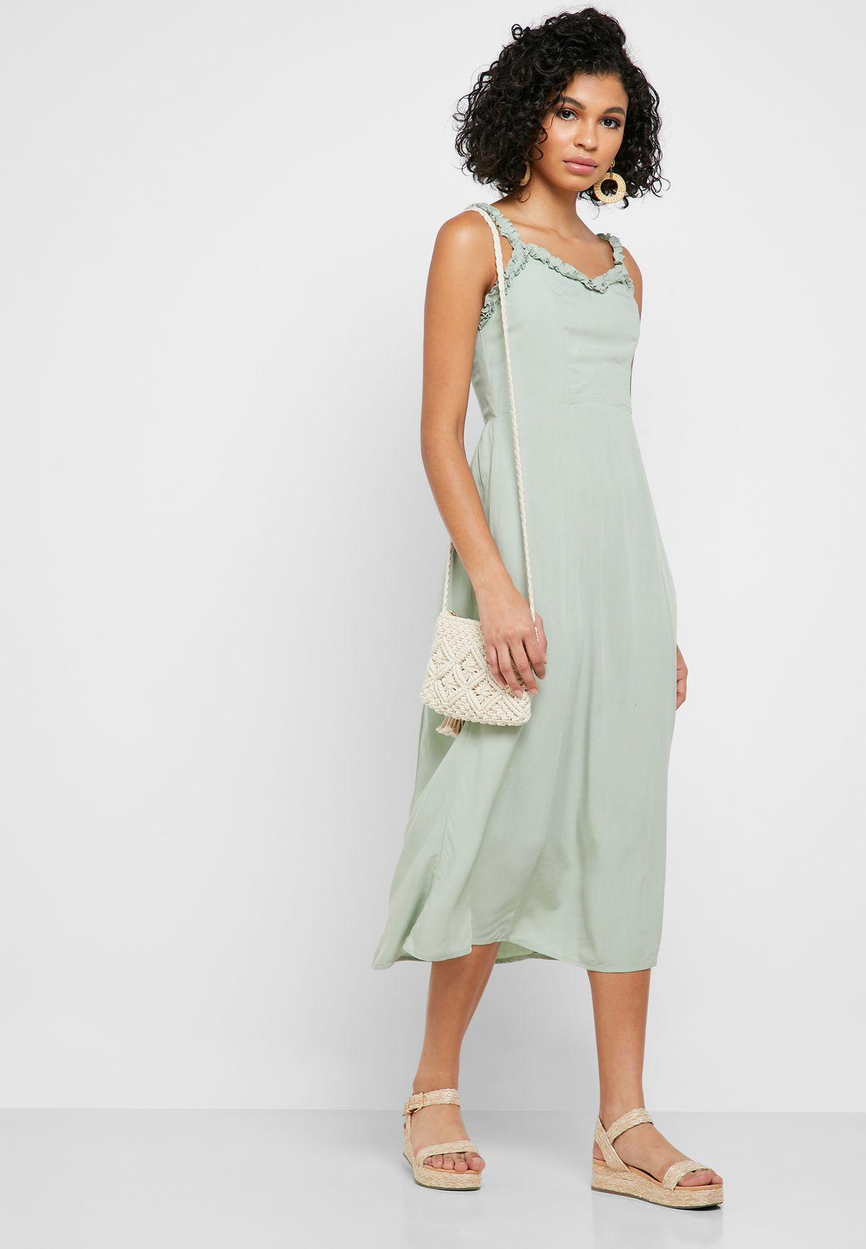 Ruffle Edge Cami Dress