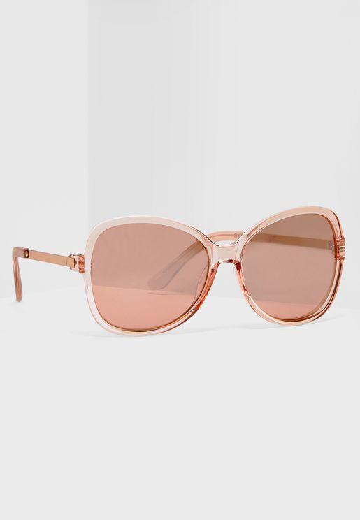 Large Oversized Metal Arm Sunglasses