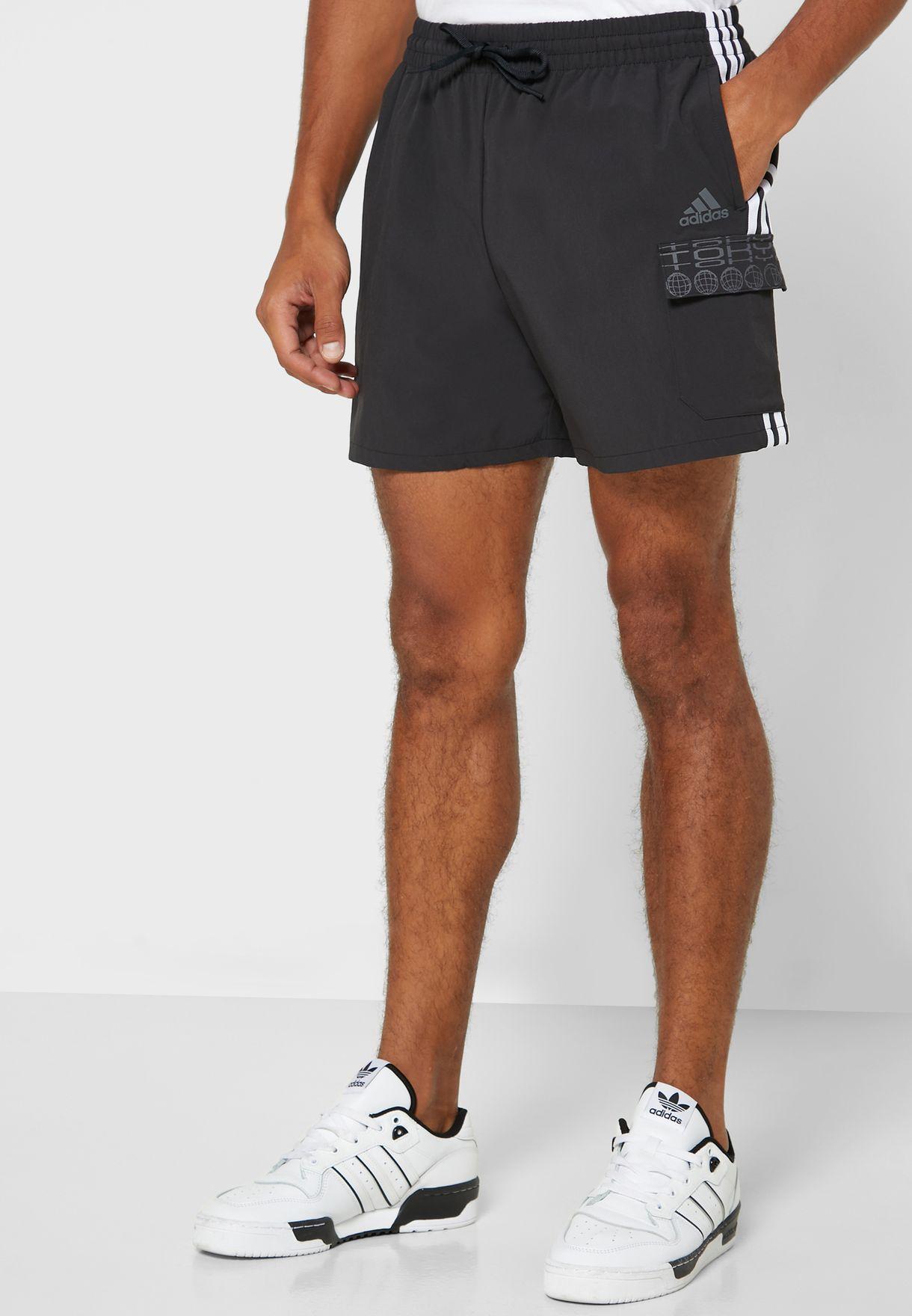 Essential 3 Stripe Cargo Shorts