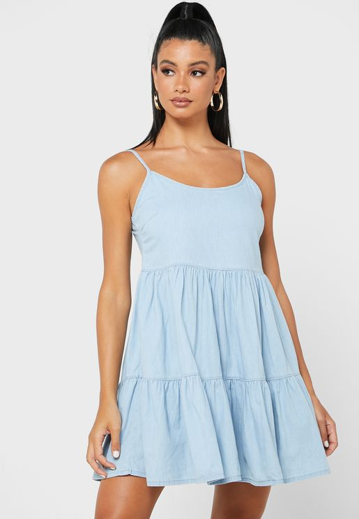Tiered Strappy Dress