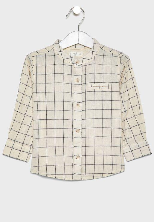 قميص كاروهات للاطفال