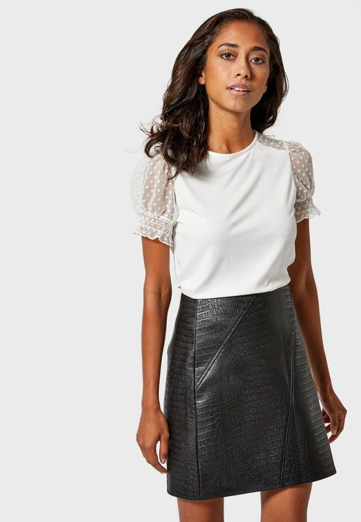 Textured Mini Skirt