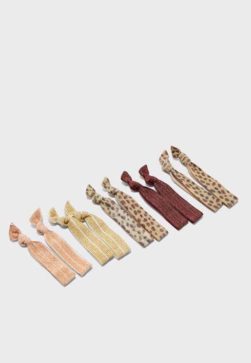 Kids Multipack Leopard Print Hair Tie