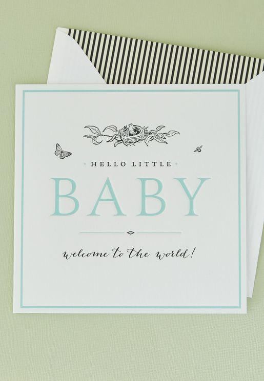 بطاقة تهنئة بالمولود الجديد