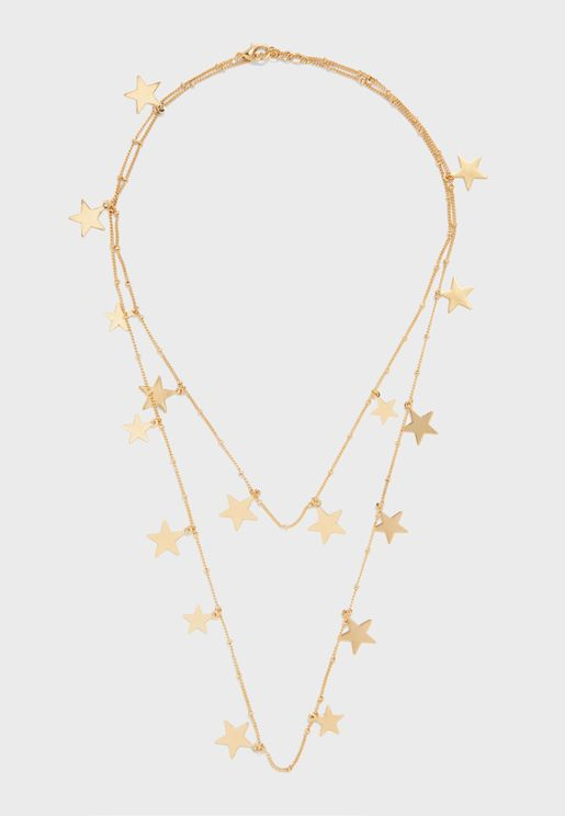 Falling Star Clean Rope Necklace