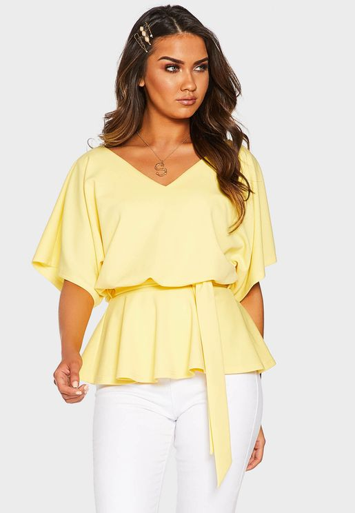Batwing Belted Top