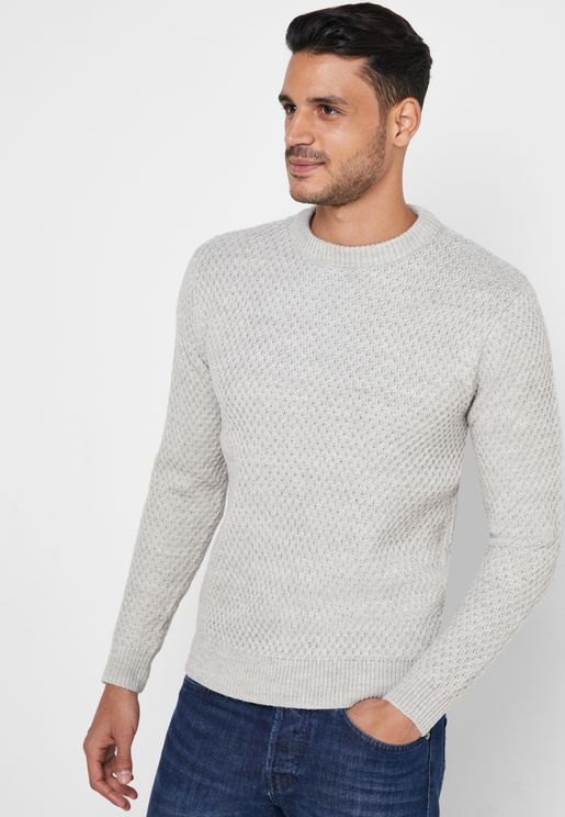 Huburt Quilted Knitted Sweater