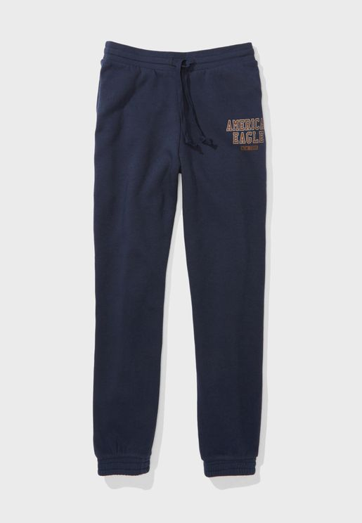 Cuffed Logo Sweatpants