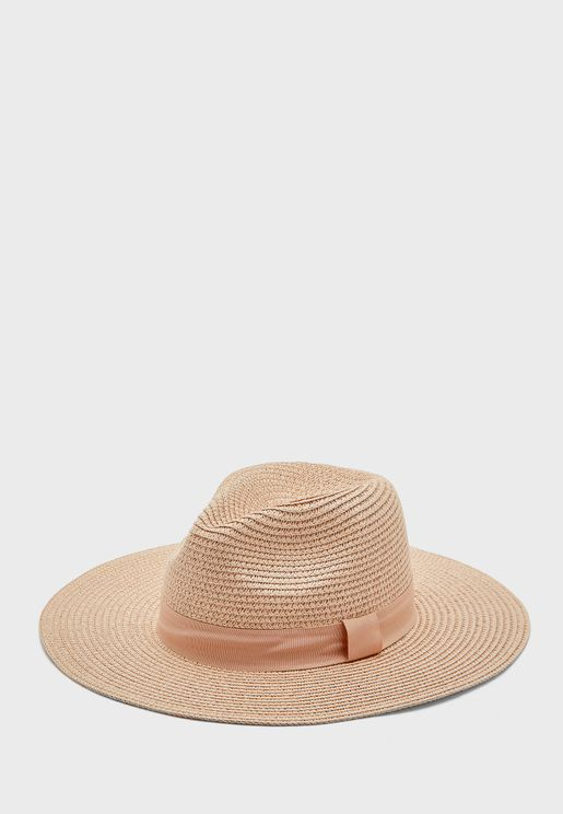 Tonal Band Straw Fedora