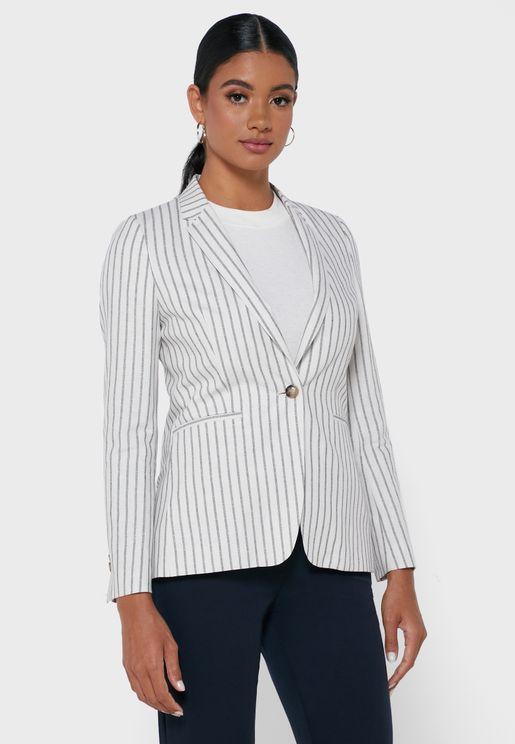Striped Tailored Blazer
