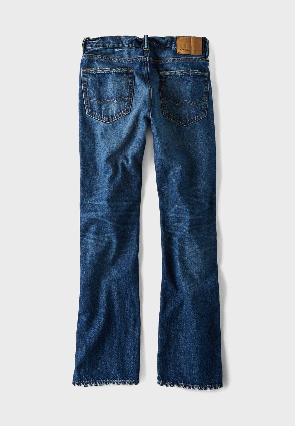 Mid Wash Relaxed Jeans