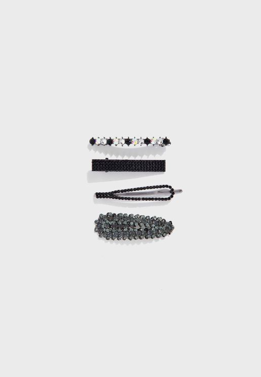 Multipack Studded Mixed Hair Clips