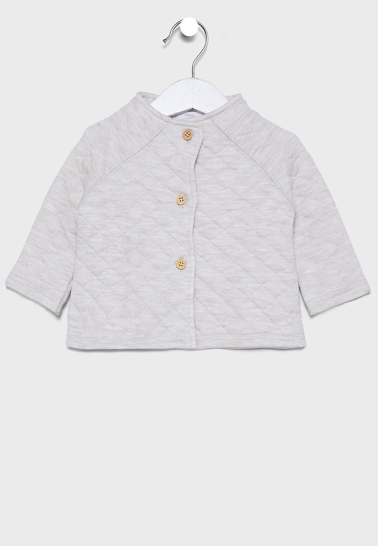 Infant Quilted Button Detail Jacket