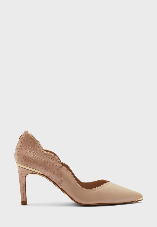 maysiee mid heel pump