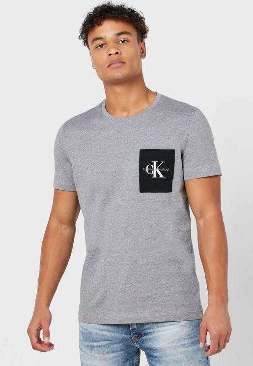 Logo Pocket Crew Neck T-Shirt