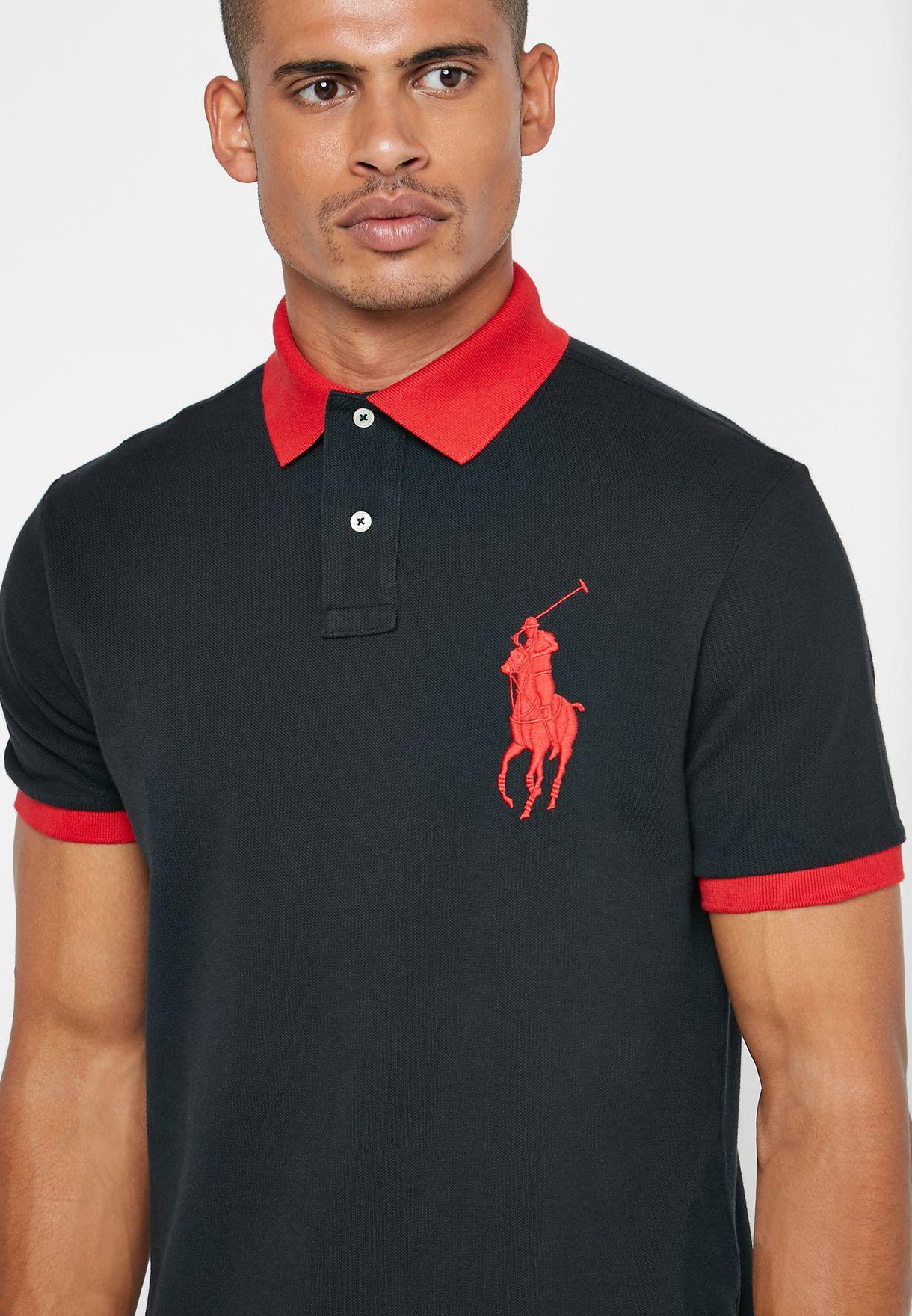 Contrast Collar Varsity Polo