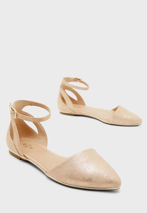 Charlote Ballerinas - Rose Gold