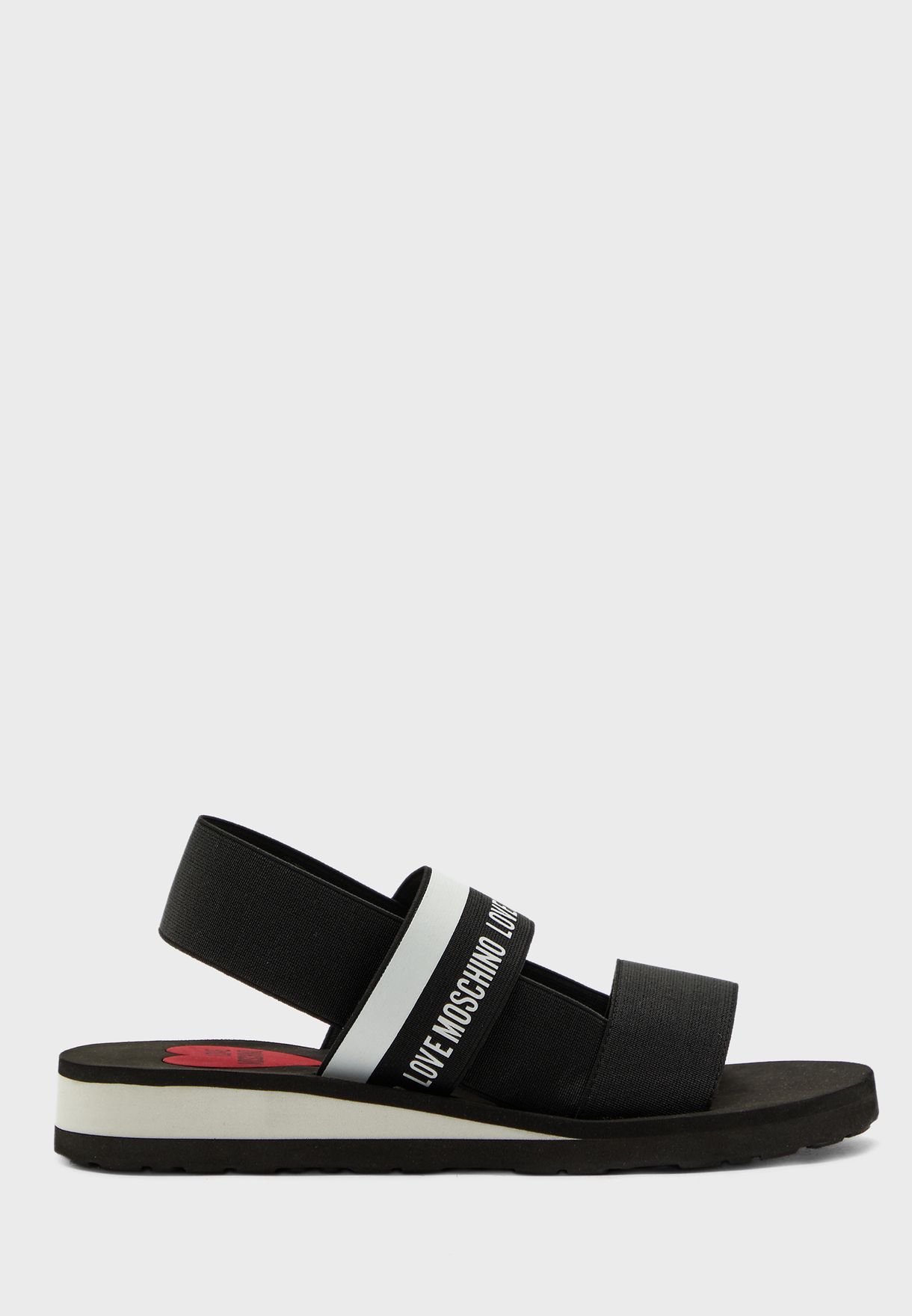 Ankle Strap Flat Sandal - Nero