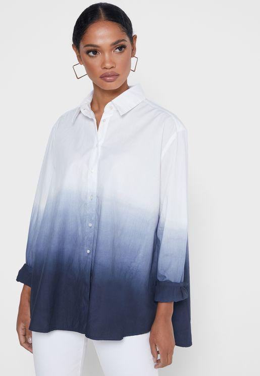 قميص بطبعات تاي داي