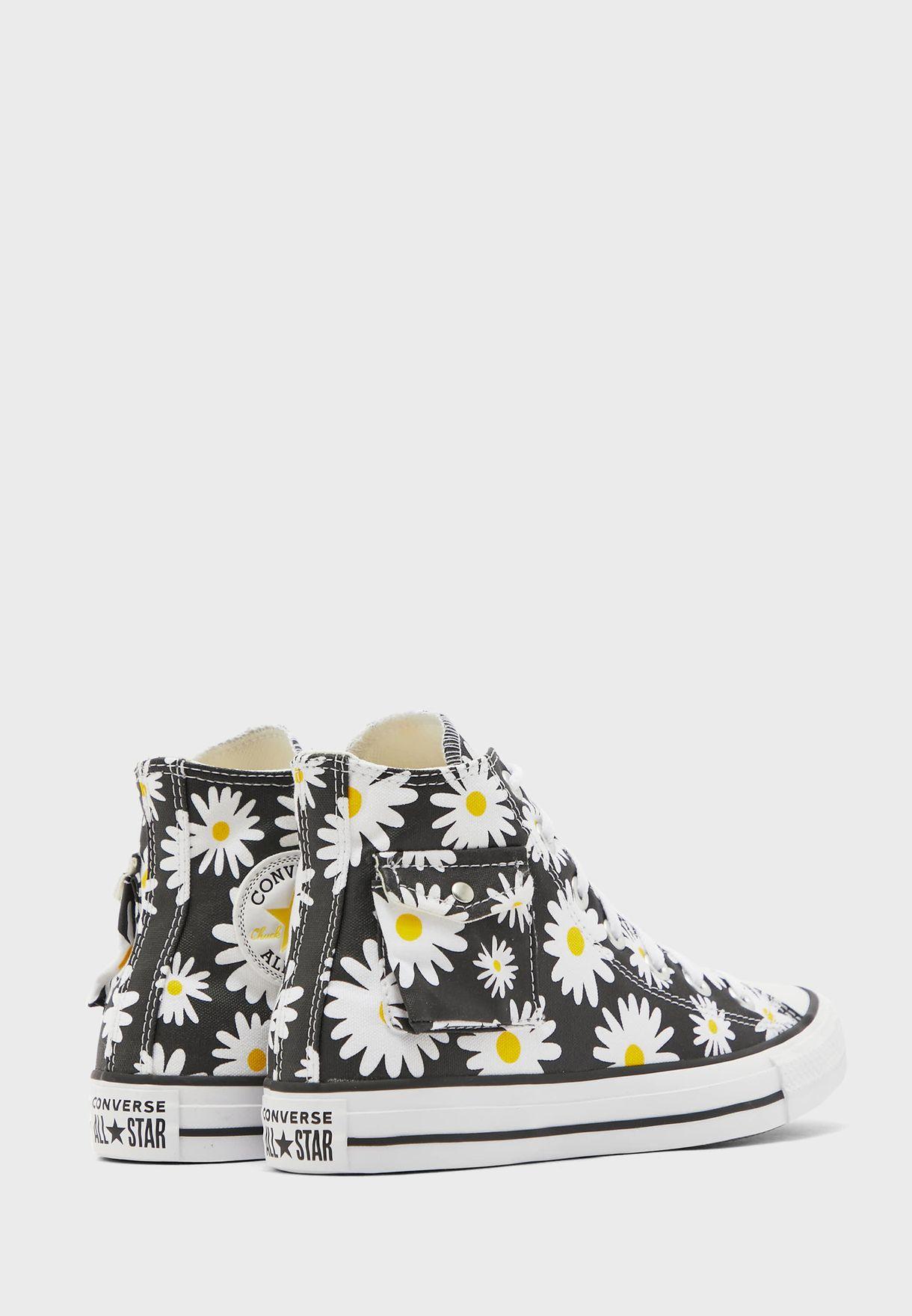 حذاء مطبع بكاحل مرتفع