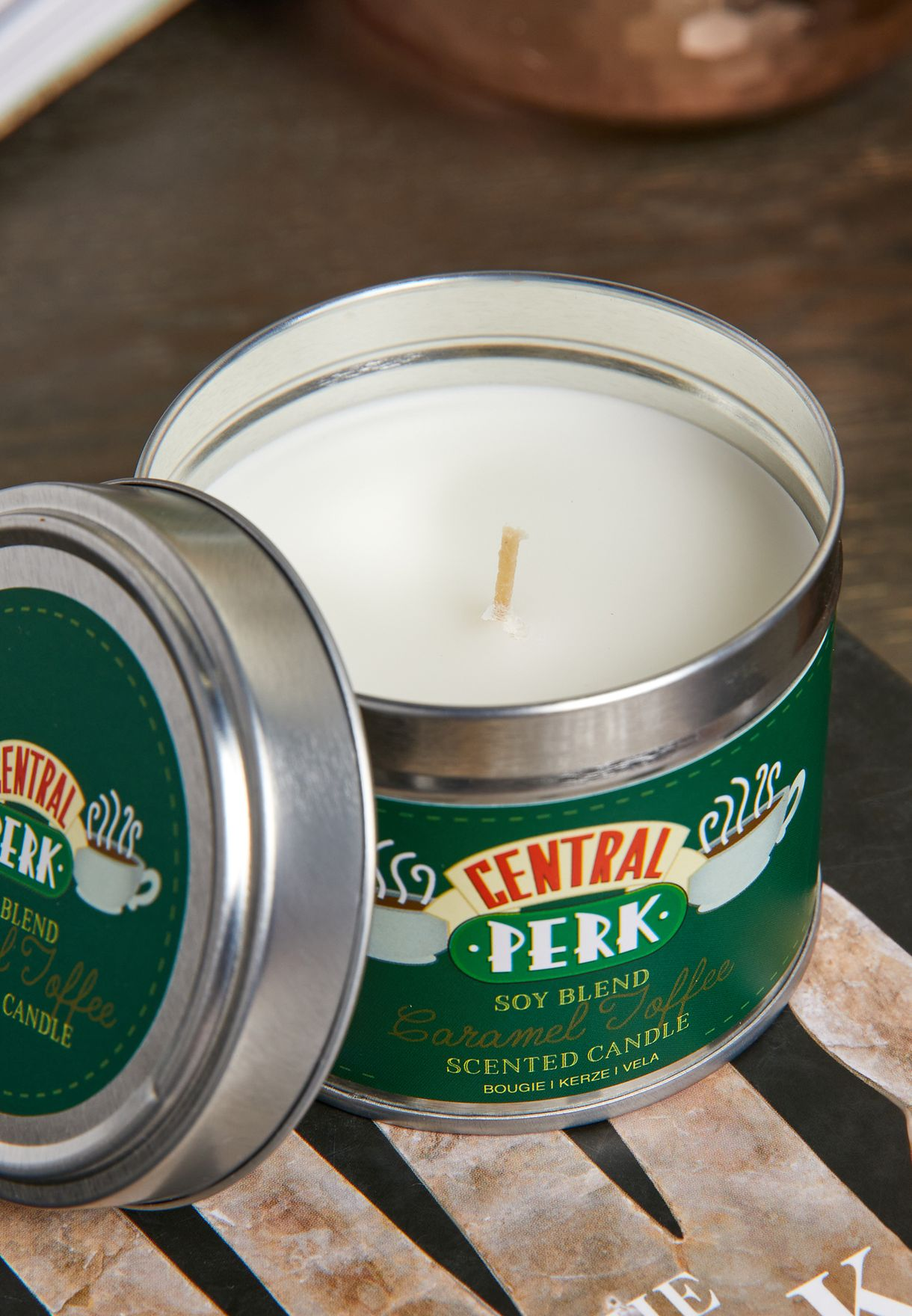 Friends Caramel Toffee Scented Tin Candle