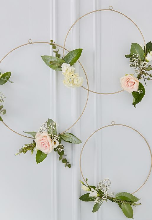 Decorative Floral Hoops