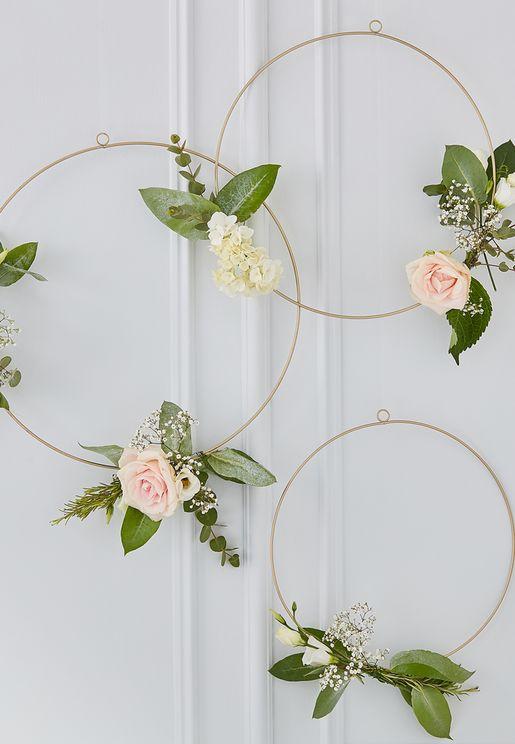 حلقات مزينة بالازهار للديكور