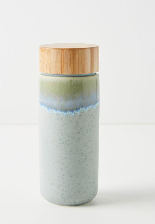 Wooden Top Travel Bottle