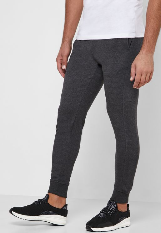 Textured Cuffed Sweatpants
