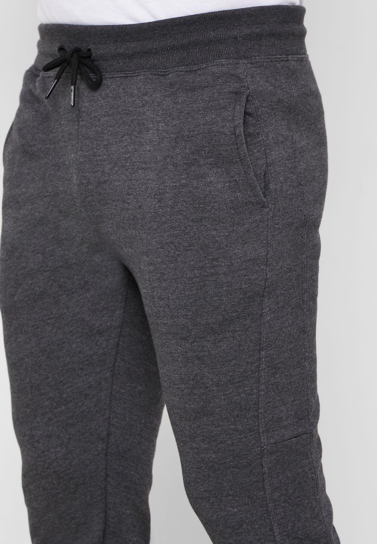 Textured Cuffed Sweatpants