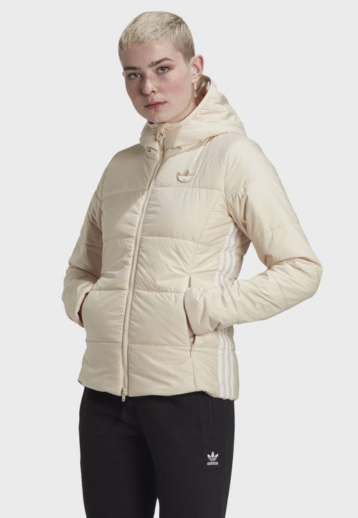 3 Stripe Hooded Puffer Jacket