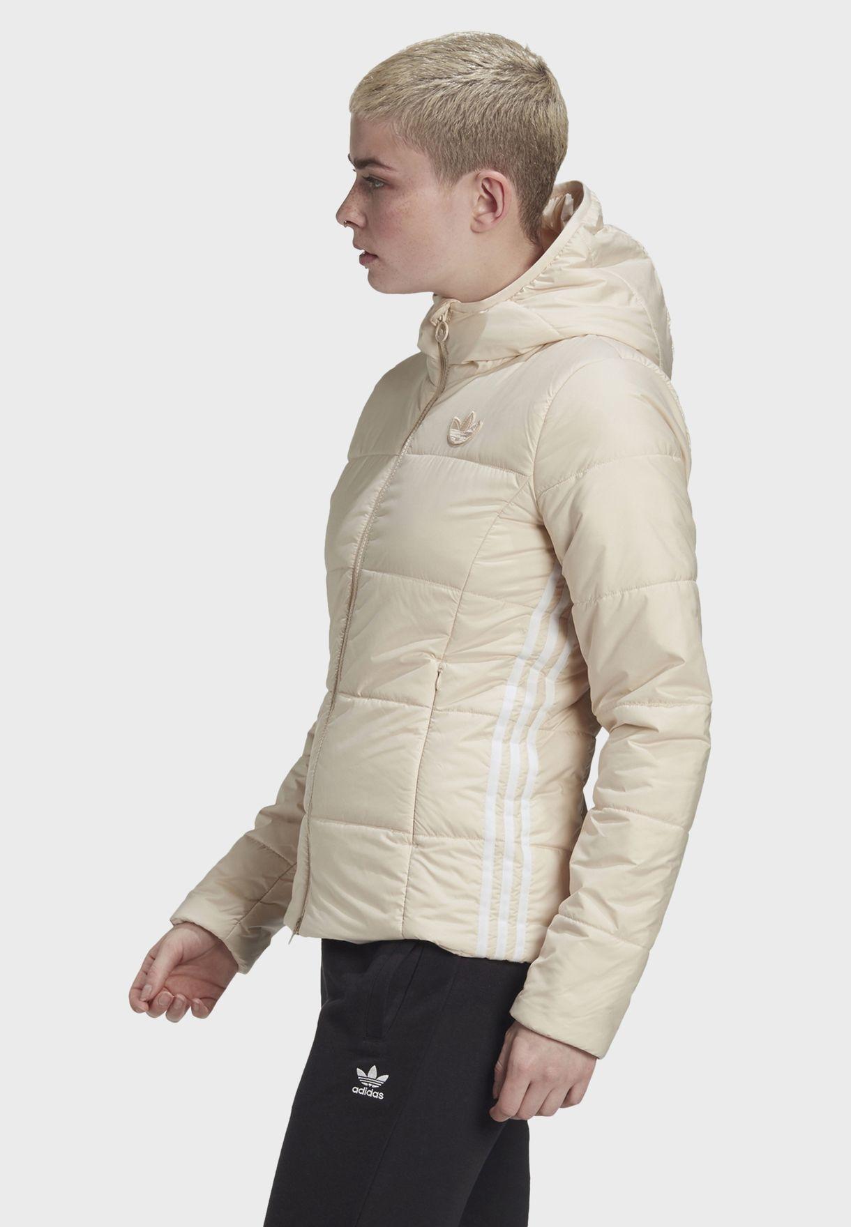 3 Stripe Hooded Puffer Jacket